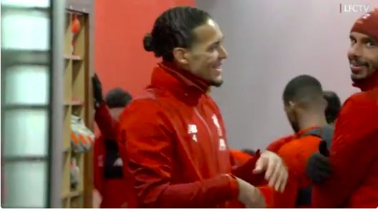 (Video) Van Dijk teases Matip for centre-back's new bearded look