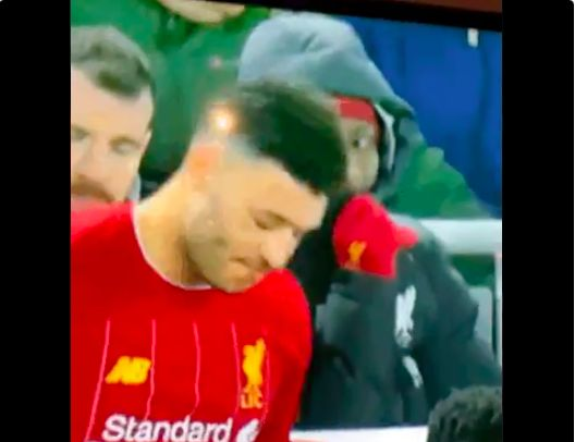 (Video) Naby Keita awkwardly watches Ox's mini tantrum on the bench