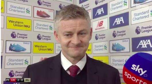 (Video) Bitter Solskjaer downplays LFC's greatness & calls us a long-ball team who can't pass through you