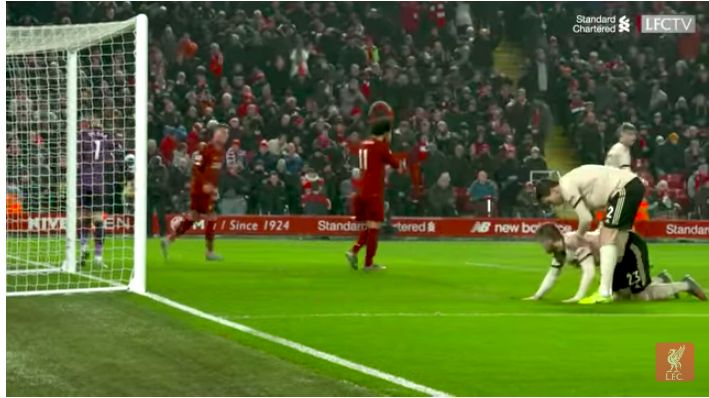 (Video) Firmino thought Salah missing a sitter was hilarious v Manchester United