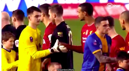 (Video) Joel Matip's awkward handshake v Shrewsbury summed up uncomfortable night