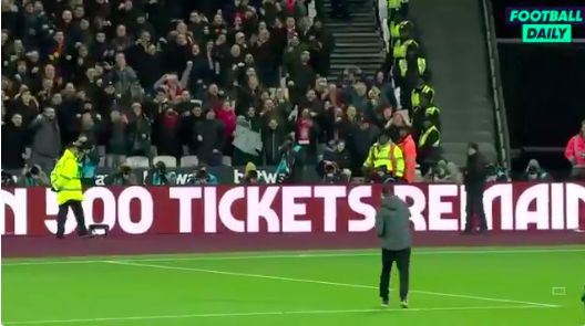 (Video) Klopp finally gave travelling Kop what they wanted with infamous fist-pump celebration