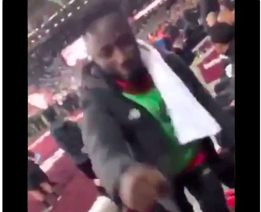 (Video) Naby Keita left hanging by unfunny West Ham fan v Liverpool