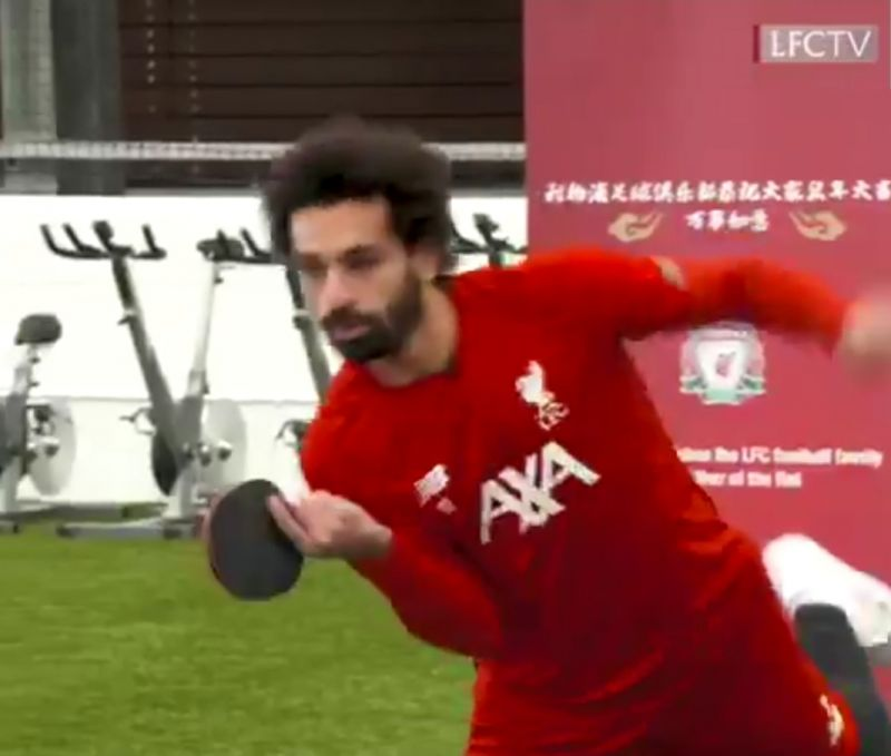 (Video) Salah & Lovren's 'bromance' continues as duo get competitive over table-tennis