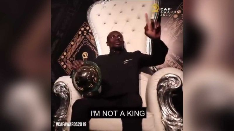 "(Video) ""I am not a king"": Humble Sadio Mane takes throne as Africa's best player"