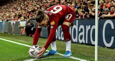 Harvey Elliott makes Barcelona joke after starring in Merseyside Derby