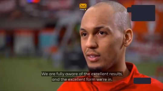 "(Video) ""It's in our hands"" – Fabinho is confident of Premier League title triumph"
