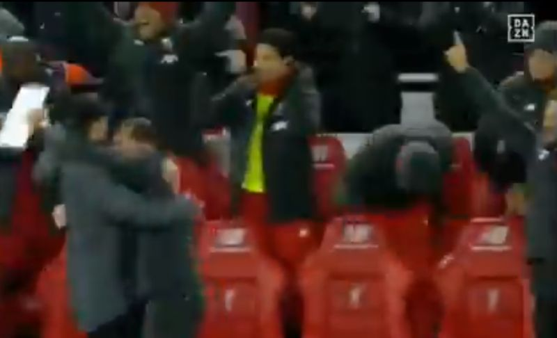 (Video) Firmino's passionate reaction to Salah's goal v. Man Utd is brilliant