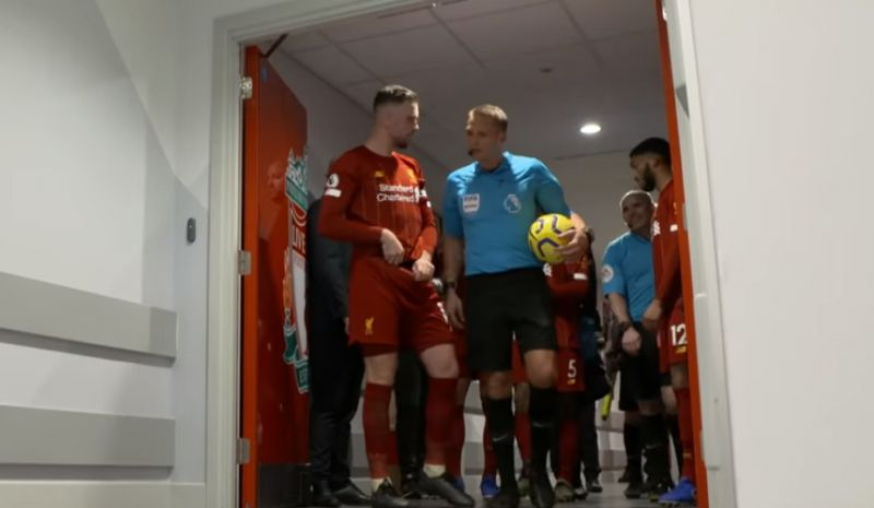 """(Video) """"I thought it had to be clear"""" – Hendo argues with ref after Firmino goal chalked off by VAR"""