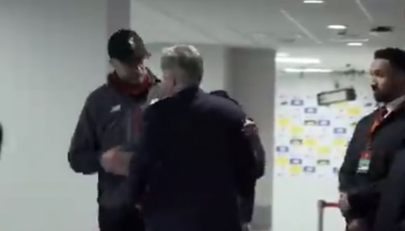(Video) Ancelotti waits in Anfield tunnel to congratulate Klopp after Merseyside Derby win