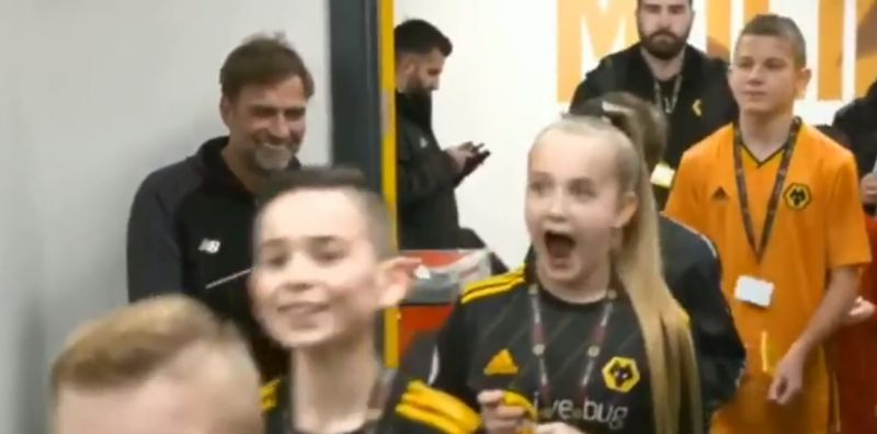(Video) Young opposition fans beaming when they unexpectedly see Jurgen Klopp