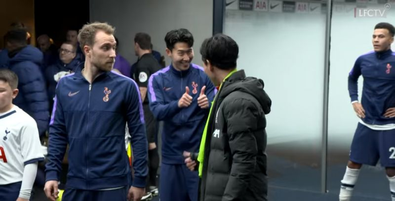 (Video) Takumi Minamino & Son Heung-min share wholesome moment before kick-off