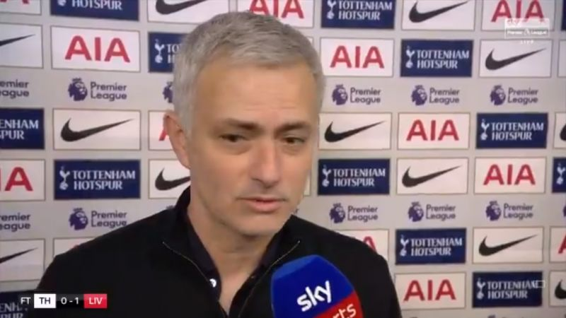 "(Video) Mourinho labels LFC ""lucky"" & says VAR should have given Robbo a red"