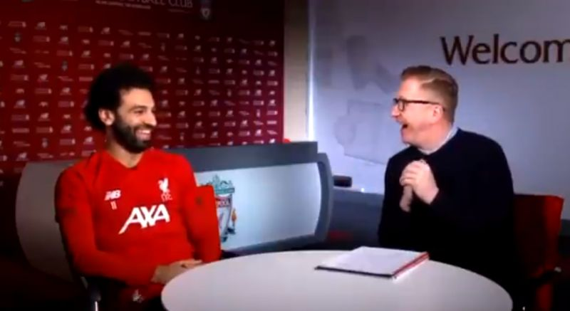 (Video) Salah lauds Trent's creativity but jokes he hasn't assisted him this season