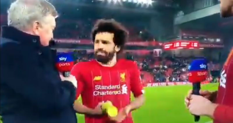 (Video) Mo Salah confused during MOTM presentation: 'Why you giving it to me?'