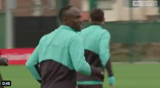 (Video) Sadio Mane training with LFC team-mates and Werner looks on