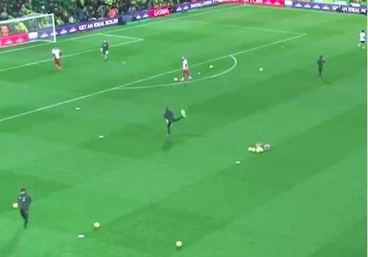 (Video) Pep Lijnders displays mad skills in pre-match warmup