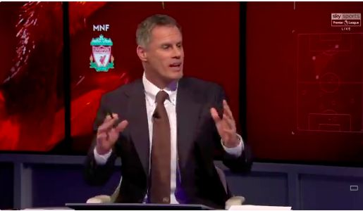 (Video) Carragher's Mo Salah analysis & comments on MNF go viral as LFC fans debate no.11