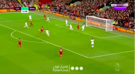 (Video) Salah scores after Fabianski howler in front of the Kop