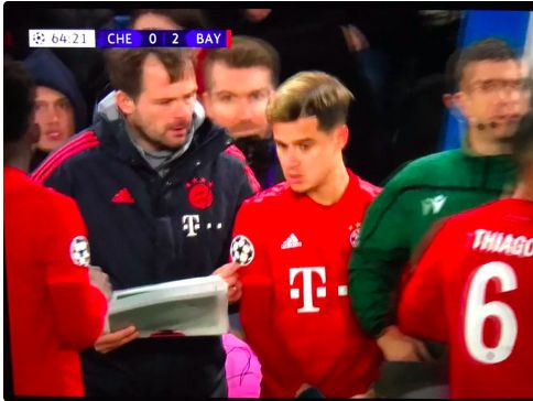 'Shadow of his former self…' Many Reds react to lonely Coutinho coming off Bayern's bench