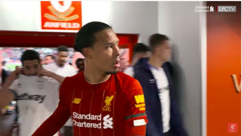 (Video) West Ham player visibly gutted after Van Dijk gives shirt to someone else