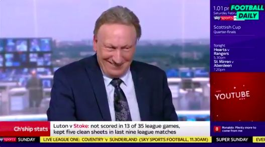 (Video) Neil Warnock says 'lucky' Liverpool get favour of VAR decisions