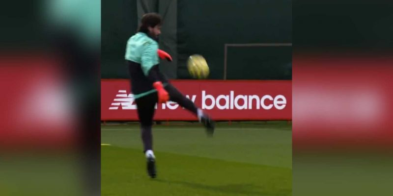 (Video) Alisson shows Brazilian flair with sublime first touch & skill in training