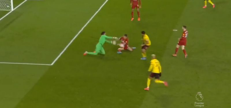 (Video) Alisson pulls off brilliant double save to deny certain Deeney goal