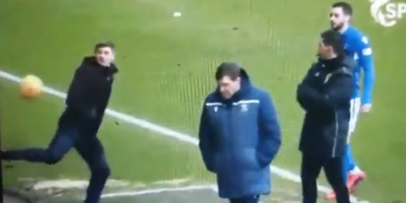 (Video) Steven Gerrard shows he's still got it with slick move on Rangers touchline
