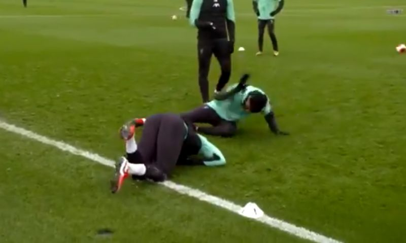 (Video) Trent hits Gomez right between the legs in training & Ox hilariously counts him down