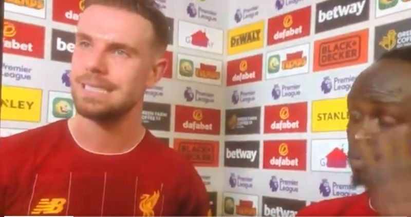 (Video) Henderson plays the role of press officer to help Mane through loaded interview