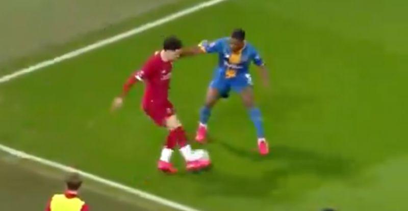 (Video) Curtis Jones embarrasses Shrewsbury defender with slick skill move