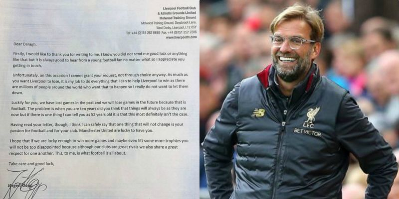 'On this occasion I cannot grant your request' – Klopp responds to 10-year-old Man Utd fan's cheeky letter
