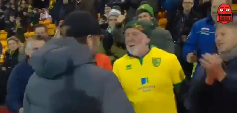 "(Video) ""Shake my bloody hand"" – funny Norwich fan bowled over by Klopp"