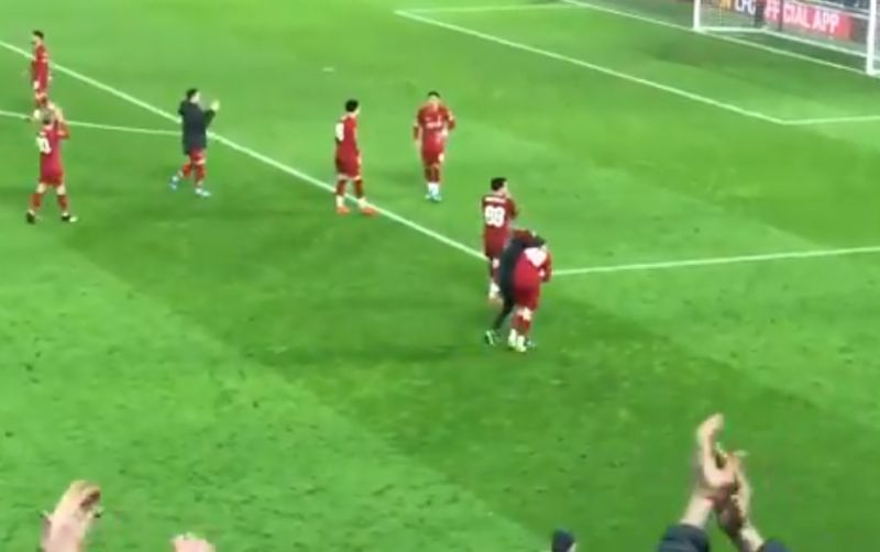 (Video) Brilliant scenes in front of the Kop as young Reds eliminate Shrewsbury from FA Cup
