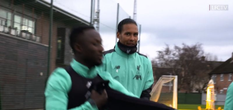 "(Video) ""Naby, la!"" – Virgil van Dijk shows off his Scouse dialect in Liverpool training"