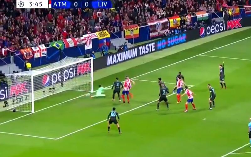 (Video) LFC concede messy goal inside four minutes against Atletico Madrid