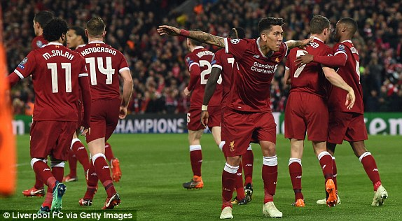 Anfield was so loud v Roma in 2018, their players complained to officials