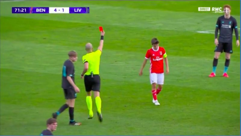 (Video) Sepp van den Berg's straight-red for LFC U19s sums up head-loss as team finishes with nine-men