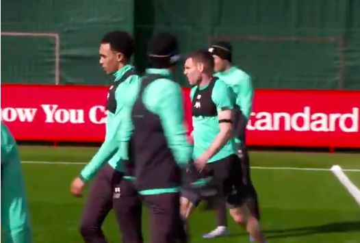 (Video) Ox calls Milner an 'animal' as veteran totally dominates training drill
