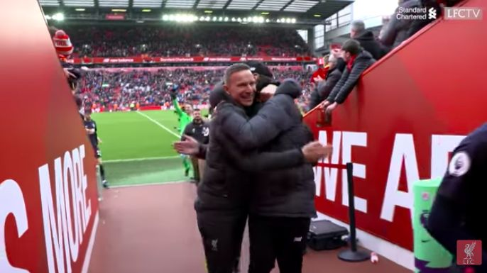 (Video) Klopp & Lijnders were absolutely buzzing after Bournemouth win