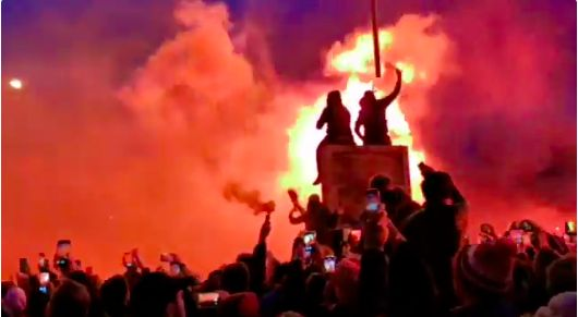 (Video) Skies around Anfield are literally Red in epic pre-match 'welcome'