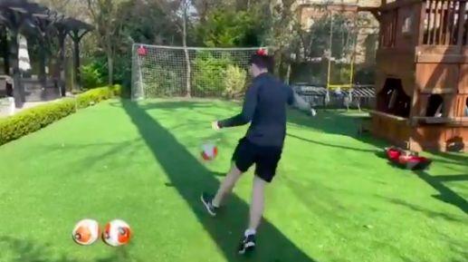 (Video) Robbo tells Trent he's on freekicks after garden masterclass
