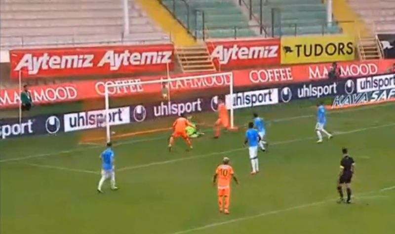 (Video) Former LFC man Caulker puts Alanyaspor 1-0 up in one of the only games being played in Europe