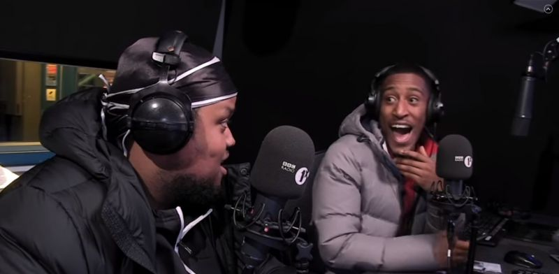 (Video) Chunkz & Yung Filly prank Rhian Brewster & Michael Dapaah on BBC R1X