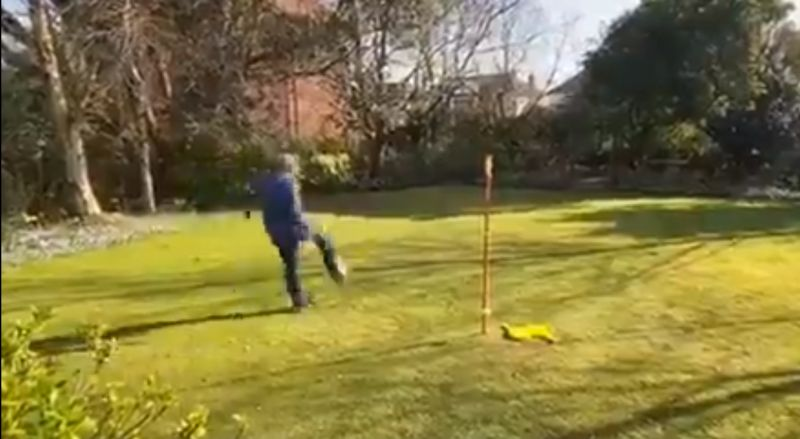 (Video) Sir Kenny Dalglish offers unique twist on #StayHomeChallenge