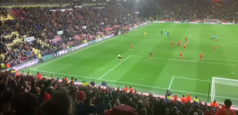 (Video) Travelling LFC fans at Vicarage Road in fine voice after first defeat of the season