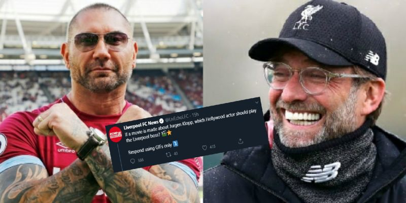 """""""I'll start working on the accent"""" – Bautista down to play Klopp if movie is made about the LFC boss"""
