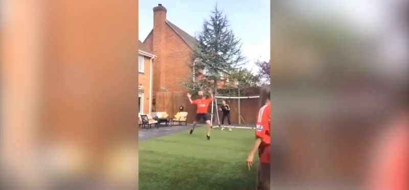 (Video) Mellor recreates famous Gerrard goal with family in isolation