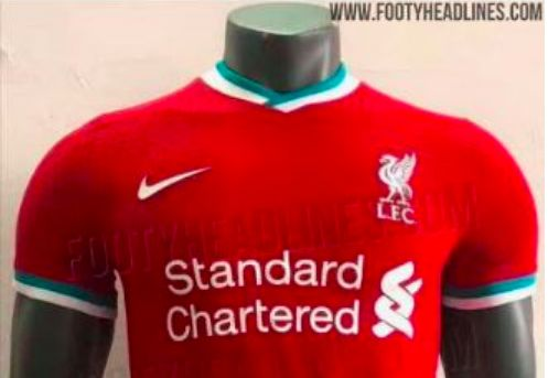 (Image) First Photo of Liverpool's Nike home shirt leaked by reliable Footy Headlines